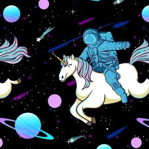 Astronaut Riding Unicorn