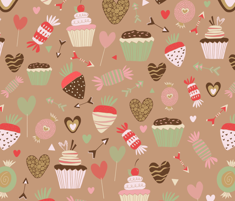 Valentine Sweets fabric by laura_k_maxwell on Spoonflower - custom fabric