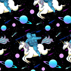Astronaut Riding Unicorn Small