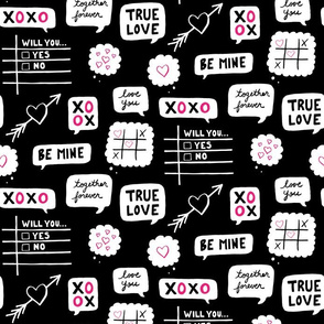 Chalkboard Valentine - Black & White