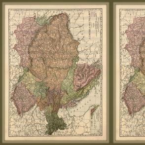 Austria-Hungary map, vintage_small