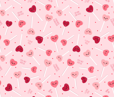 Valentine Sweethearts fabric by figandfossil on Spoonflower - custom fabric