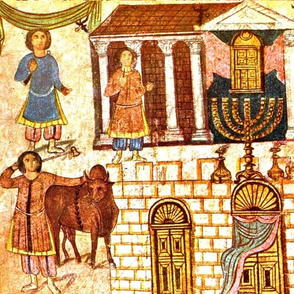 EARLY JEWISH ART SYRIA SYNAGOGUE