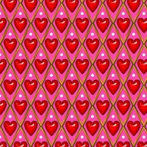 Valentine Hearts Grid 2
