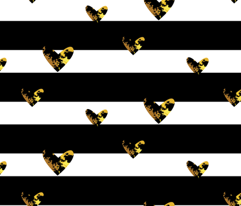 Heart Gold fabric by bruxamagica on Spoonflower - custom fabric