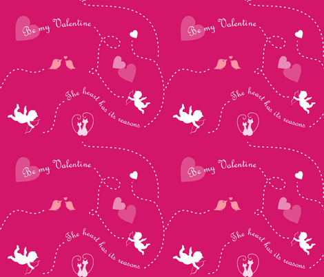 BeMyValentine_ fabric by geoccg on Spoonflower - custom fabric