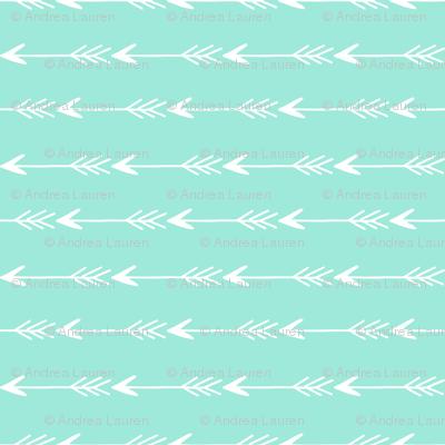 arrows fabric - mint arrows fabric, arrow fabric, mint fabric, girls fabric