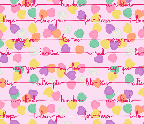Lovely Conversation fabric by overthemoondesigns on Spoonflower - custom fabric