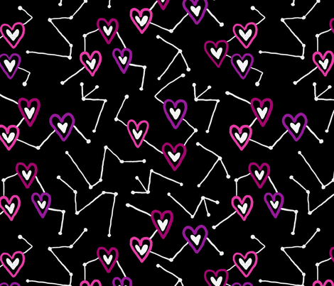 Heart Constellations fabric by courtney_kmann on Spoonflower - custom fabric