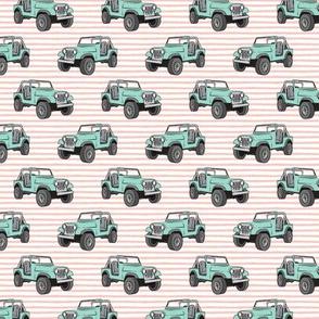 """(1"""" scale) jeeps - mint on pink stripes C18BS"""