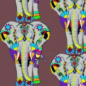 Retro Indian Elephant