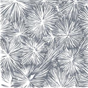 Underwater Plant Life in Blue Gray Blocks