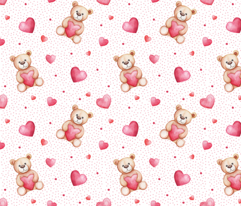 Be my Valentine  fabric by whimsical_brush on Spoonflower - custom fabric