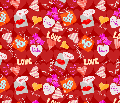 Valentines in the World fabric by mirimo_design on Spoonflower - custom fabric