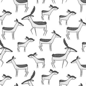 deer family - gray - large