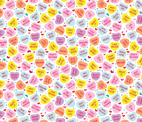 aloha anti convo hearts fabric by alohababy on Spoonflower - custom fabric
