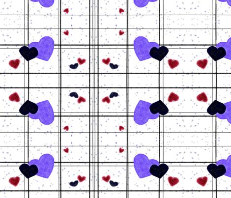 Hearts fabric by zhughes on Spoonflower - custom fabric