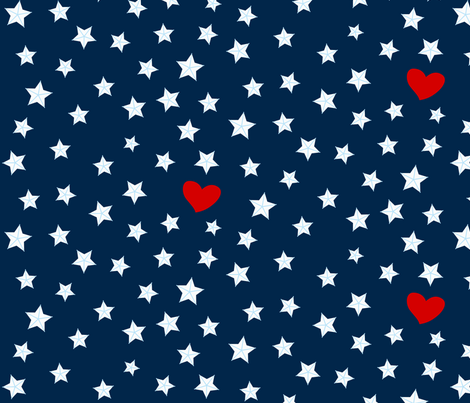 Where LOVE is there's no night! fabric by mariao on Spoonflower - custom fabric