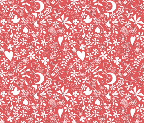 sweet valentine fabric by vo_aka_virginiao on Spoonflower - custom fabric