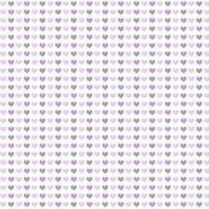 (micro scale) chalk multi hearts || valentines day (purple)