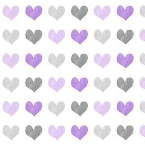 chalk multi hearts || valentines day (purple)