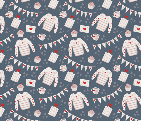 Valentine wish list fabric by morsky on Spoonflower - custom fabric