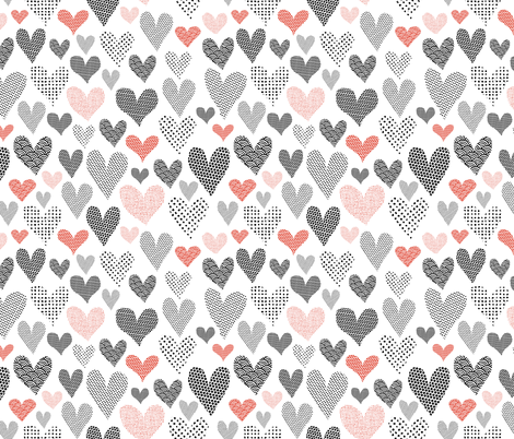 Hearts  fabric by kasia_dawidow on Spoonflower - custom fabric