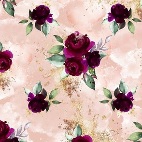 Bordo Floral Dusty Pink