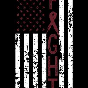 Fight//Multiple Myeloma//US Flag - 2 Yard Layout (MINKY)