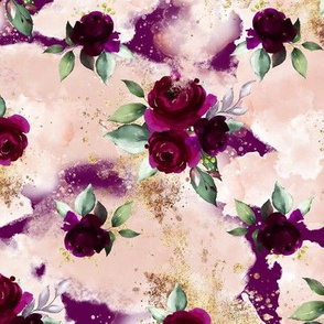 Bordo Floral Plum