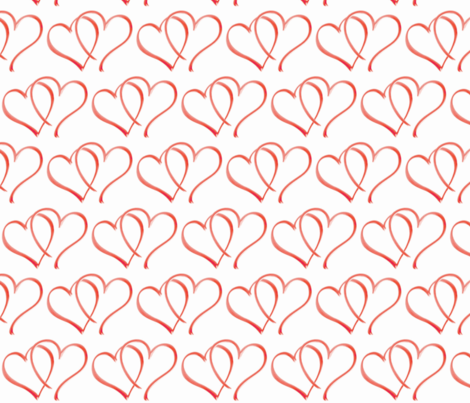 Hearts fabric by susanr50 on Spoonflower - custom fabric