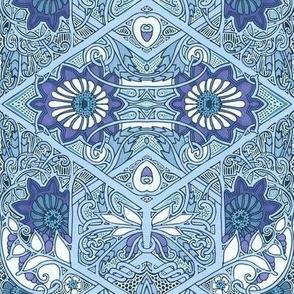 Victorian Vine Entwine Blues