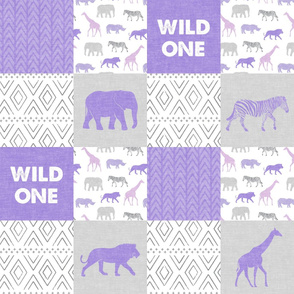Wild One- Safari Wholecloth - purple