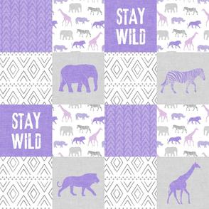 Stay Wild - Safari Wholecloth - Purple