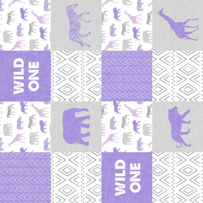 Wild One- Safari Wholecloth  - purple (90)