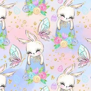 Easter Bunny Floral egg