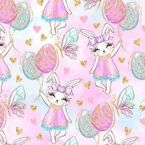 Easter bunny balloons glitter