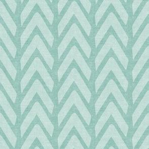 Organic Chevron - Safari Wholecloth Dark Mint coordinate