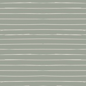 Bone Stripes on Sage Green