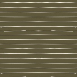 Bone Stripes on Dark Khaki