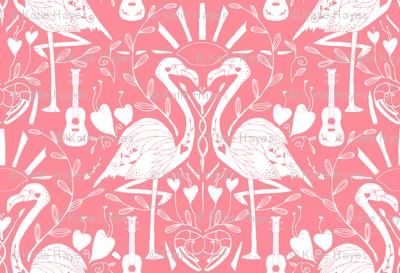 Totally Creching- Flamingos on Carol