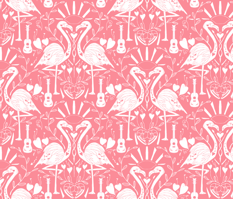Totally Creching- Flamingos on Carol fabric by katie_hayes on Spoonflower - custom fabric