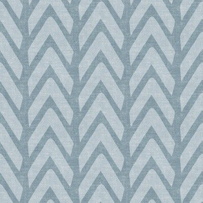 Organic Chevron - Safari Wholecloth Dusty Blue coordinate