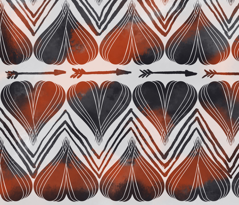 Hearts & Arrows II fabric by invintaged_miss on Spoonflower - custom fabric