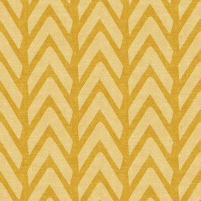 Organic Chevron - Safari Wholecloth Mustard coordinate