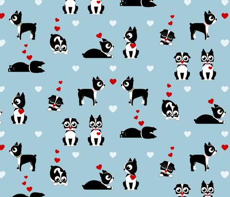 Valentine Boston Terrier fabric by arcosbydesign on Spoonflower - custom fabric