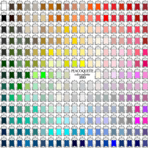 Peacoquette Palette 2019 ~ Yard Scale