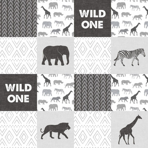 Wild One - Safari Wholecloth - monochrome