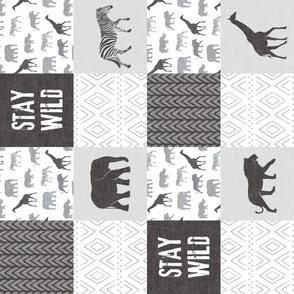 Stay Wild - Safari Wholecloth - monochrome (90)