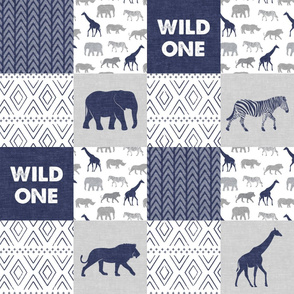 Wild One - Safari Wholecloth - Navy
